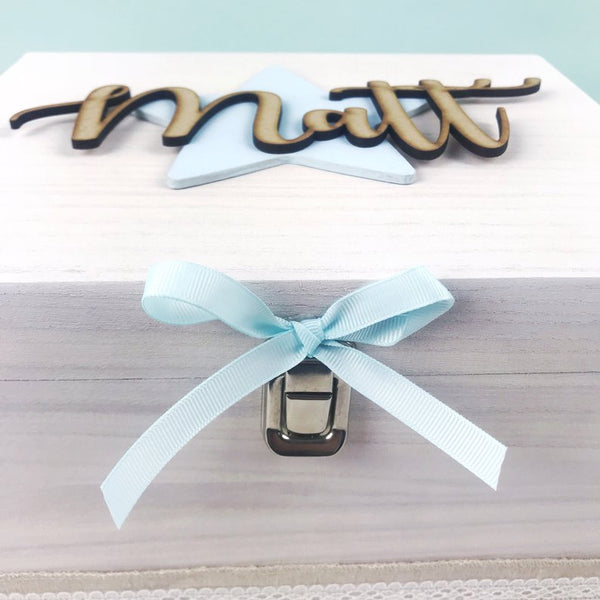 Script Lettering Keepsake Box (Star)