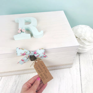 Mint Floral Personalised Time Capsule