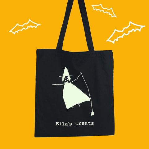 Glow in the Dark Trick or Treat Drawing Bag