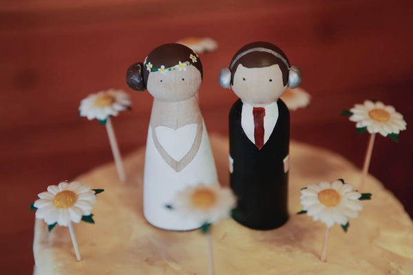 Peg Doll Wedding Cake Toppers