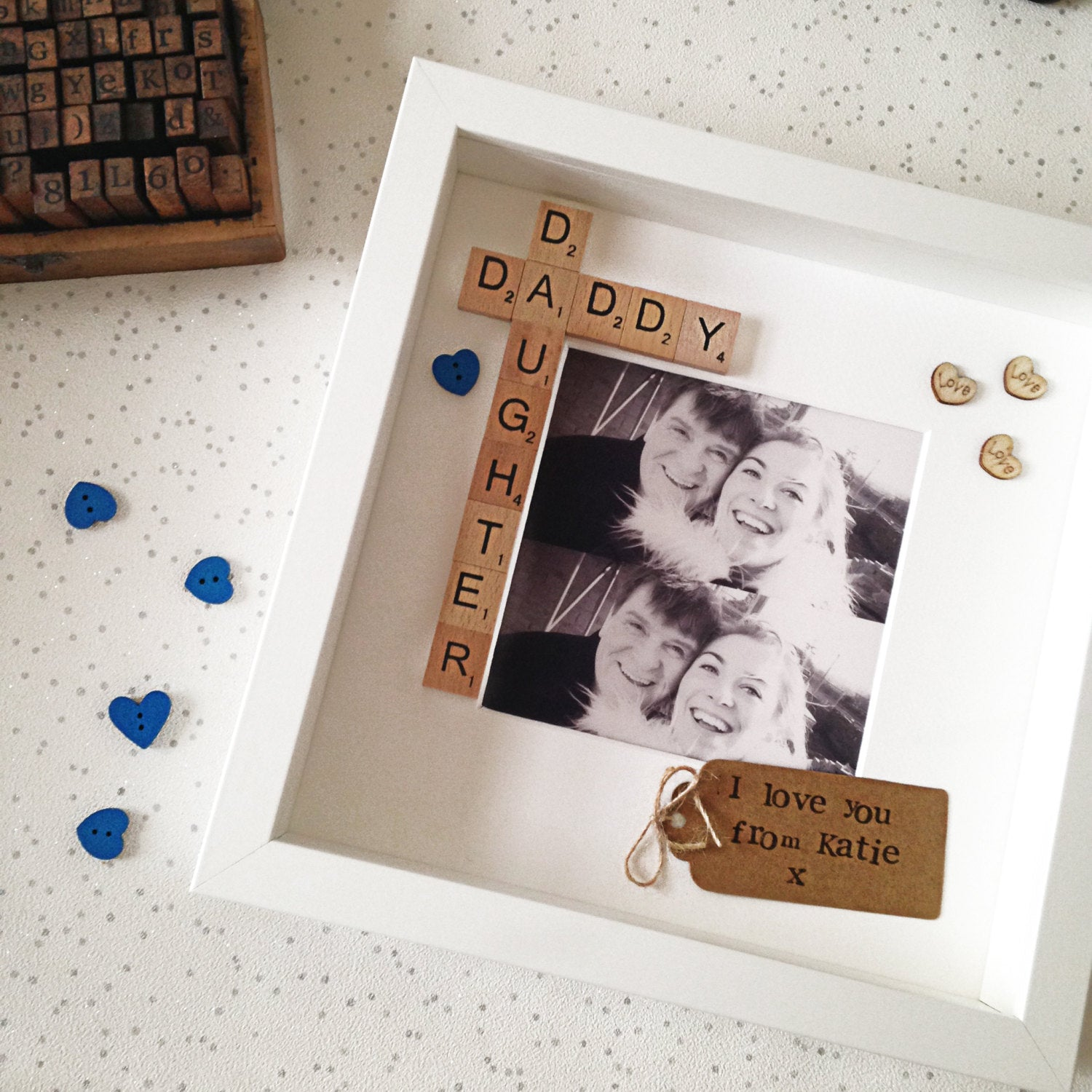 Daddy & Daughter Frame- Blue