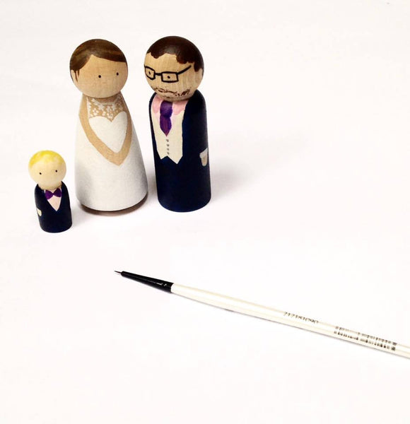 Personalised Wedding Cake Topper Family