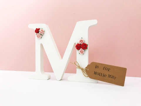 Freestanding Decorative Letter- Roses
