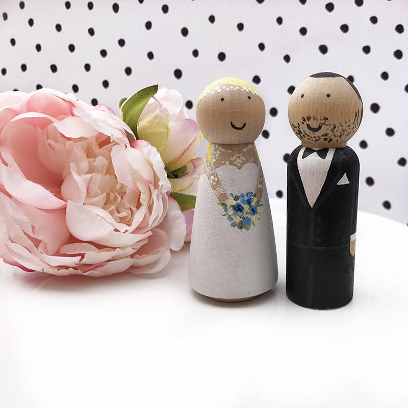 Personalised Wedding Cake Topper Mr and Mrs