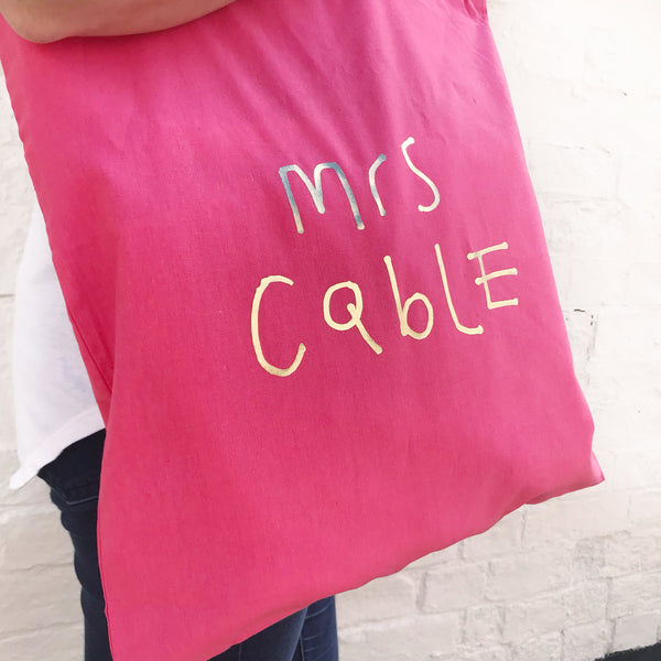 Children's Handwriting Teacher Tote Bag