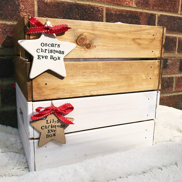 Personalised Christmas Eve Crate- Wooden