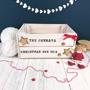 Family Christmas Eve Crate- White