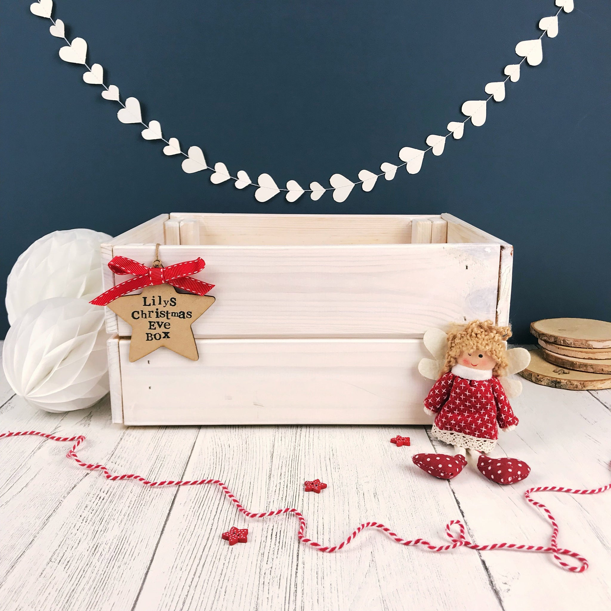 Personalised Christmas Eve Crate- White
