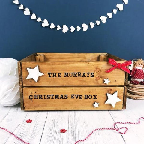 Family Christmas Eve Crate - Wooden