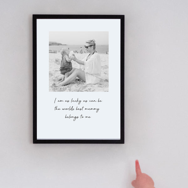 worlds best mummy photo print