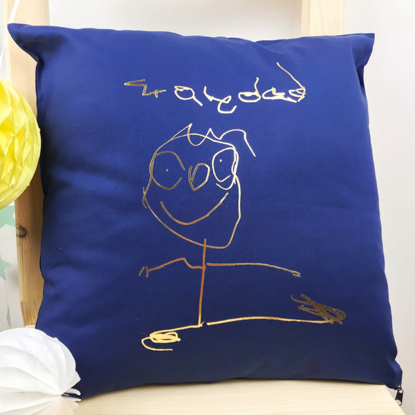 Grandad Childrens Drawing Cushion