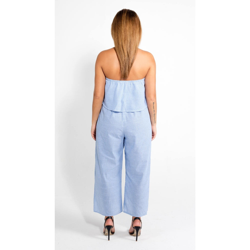 The Night Begins Off shoulder Jumpsuit