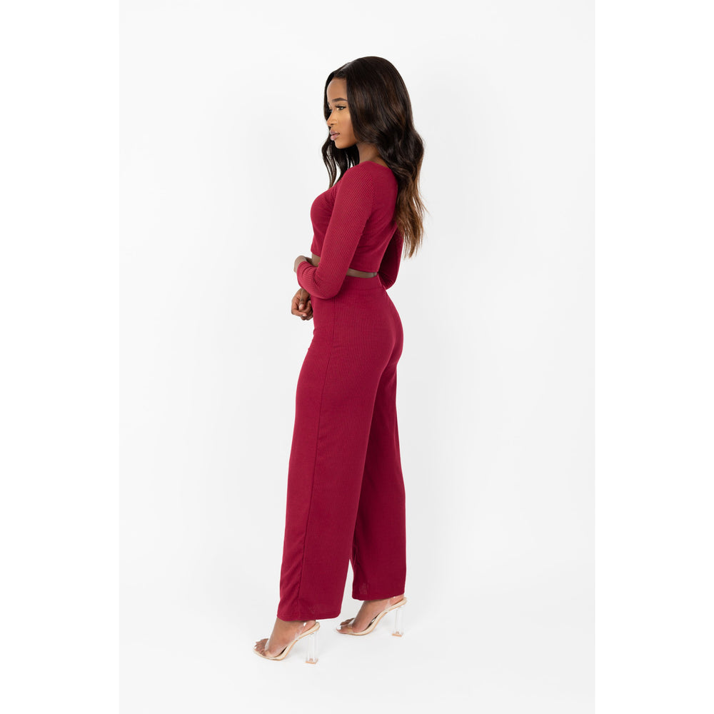 Women's Long Sleeve Crop Top Co-ord