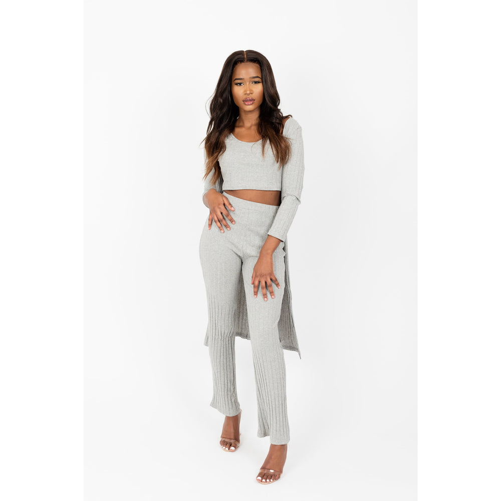 Short sleeve Crop Top Pants Set