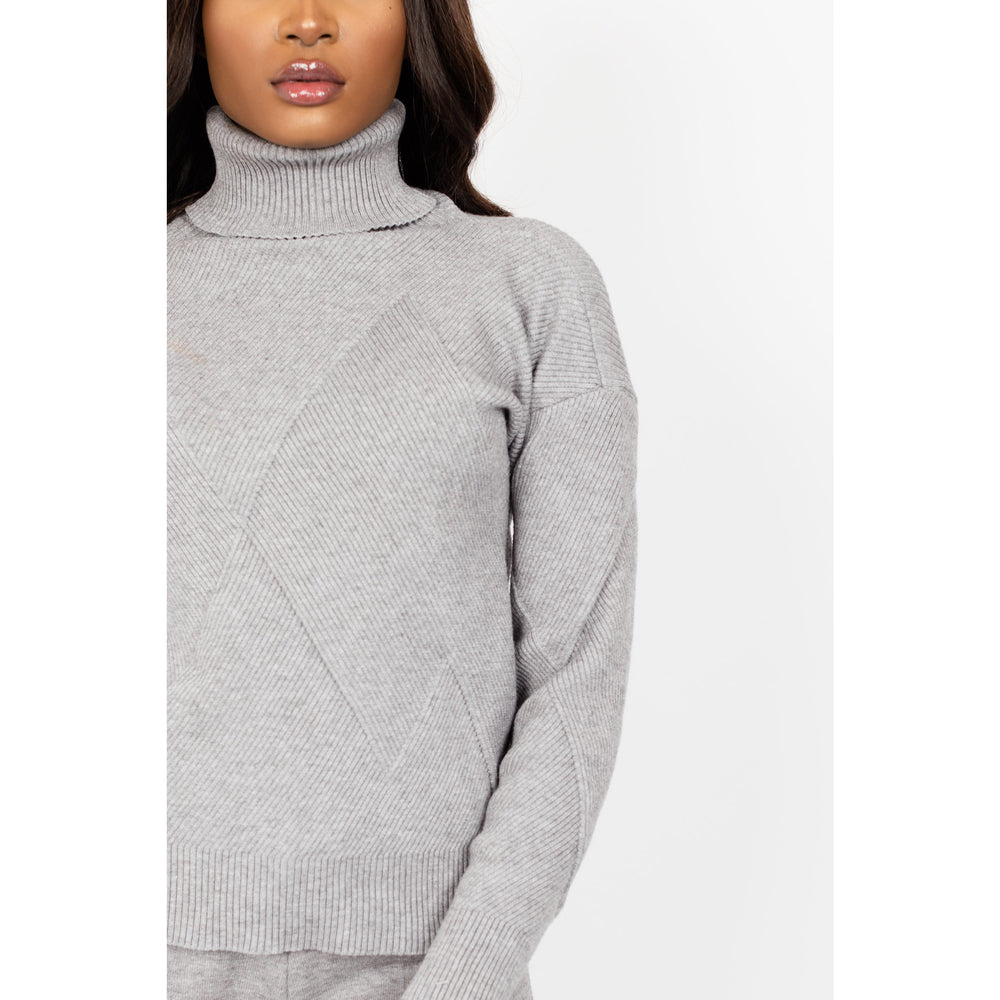 Women's turtle neck Co-ord set