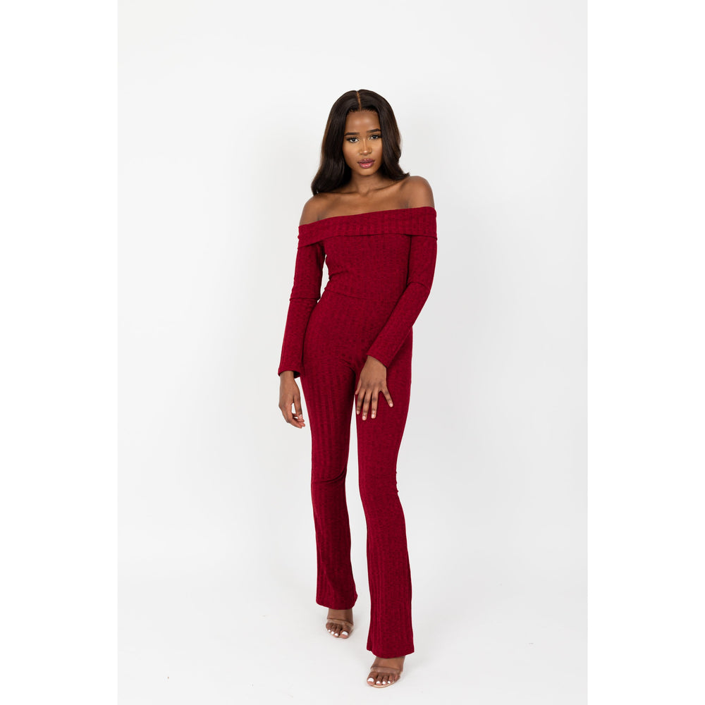 Women's Off Shoulder Long Jumpsuit