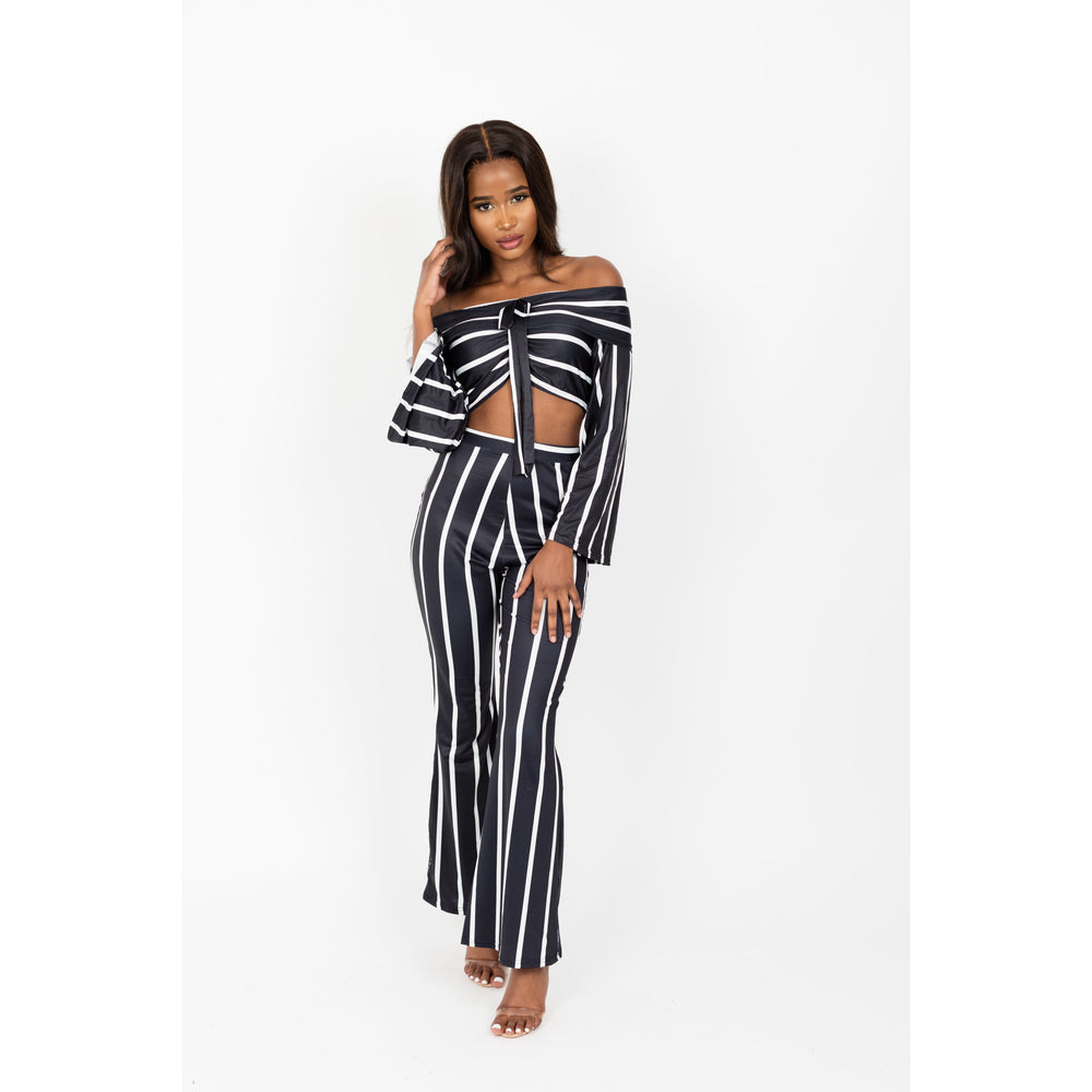 Tiffany long sleeve stripes 2 piece