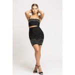 Alexis Bandage Skirt Set in black