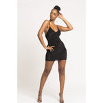 Nicki Mini Backless Dress in Black