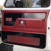 Door Panel Inserts Full Set (Driver & Passenger Side / Upper & Lower)