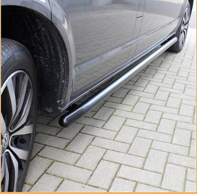 Volkswagen Caddy van side bars in black chrome swb and maxi