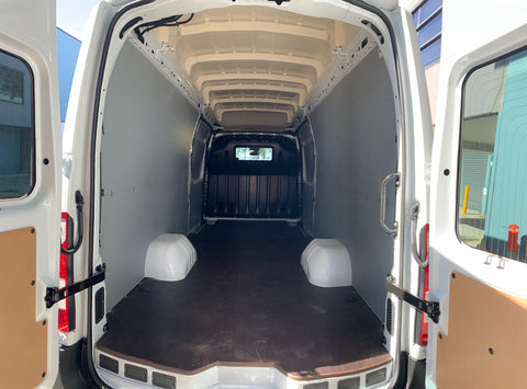 Renault Master RWD ELWB and LWB floor with Dual rear wheels Floor and wall panels