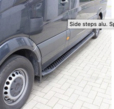 mercedes benz sprinter side step black