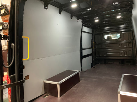 VW crafter lwb wall panels flooring floors