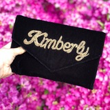 VELVET ENVELOPE CUSTOM CLUTCH