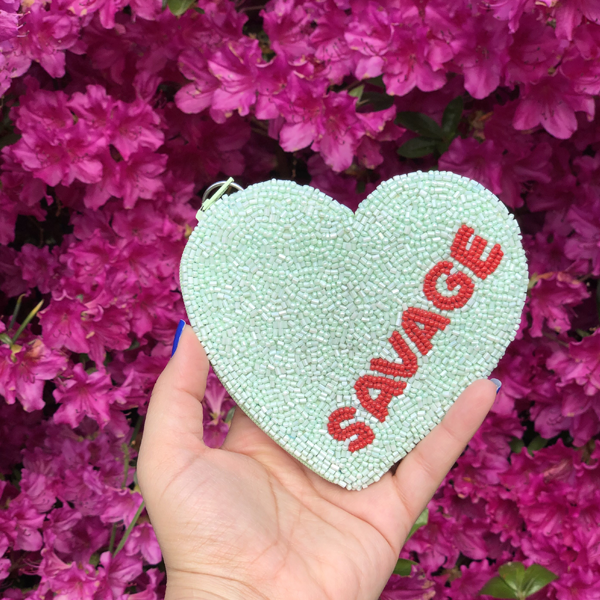 SAVAGE CANDY HEART COIN PURSE