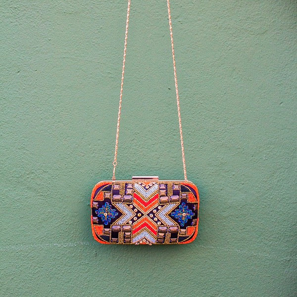 GEOMETRIC BOX BAG
