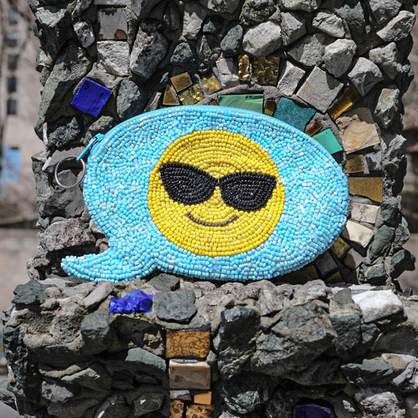 COOL EMOJI TEXT COIN PURSE