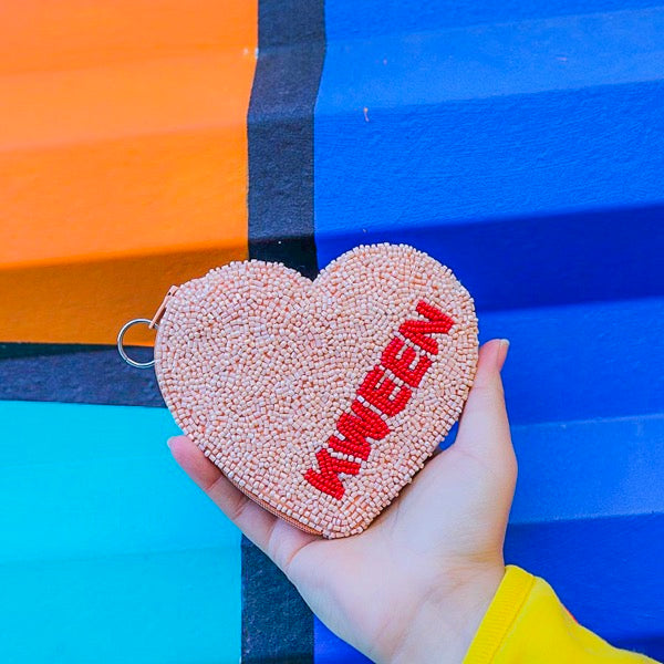 KWEEN CANDY HEART COIN PURSE