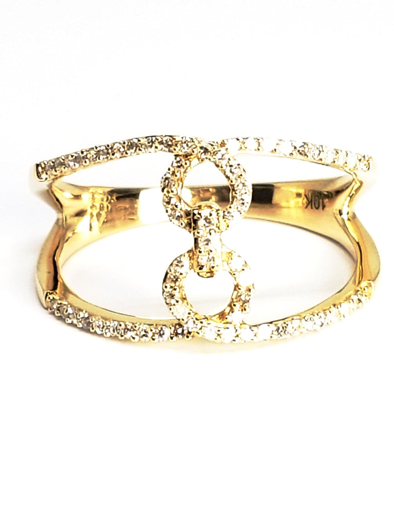 10K Yellow Gold Link Ring