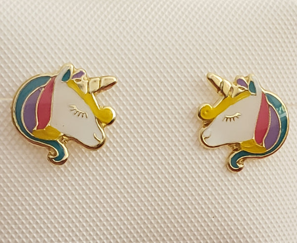 Girls Unicorn Earrings