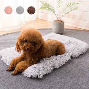 Winter Dog Bed Mat Soft Fleece Pet Cushion House Warm Puppy Cat Sleeping Bed Blanket For Small Large Dogs Cats Kennel