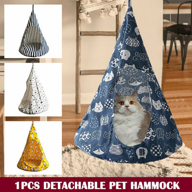 Cute Removable Pet Hanging House Conical Hammock Washable Tent for Small Dogs Cats LBShipping