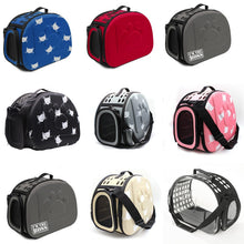Load image into Gallery viewer, YUYU Cat Carrier Bag Outdoor Dog Carrier Bag Foldable EVA Pet Kennel Puppy Dog Cat Outdoor Travel Shoulder Bag for Small Dog