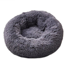 Load image into Gallery viewer, Long Plush Super Soft Pet Bed Kennel Dog Round Cat Winter Warm Sleeping Bag Puppy Cushion Mat Portable Cat Supplies