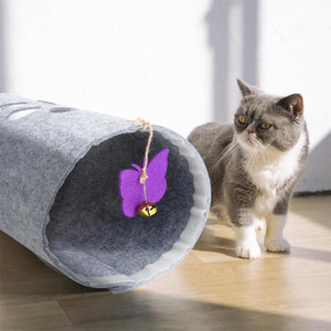 Pet Cat Funny Tunnel Various Optional Foldabe Kitten Outdoor Interactive Training Toy with Bell Bulk Toys Rabbit Tunnel Cat Cave