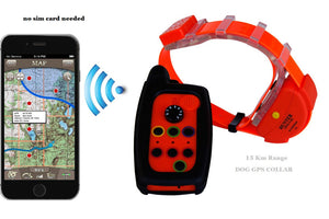 WATERPROOF DOG GPS TRACKER COLLAR WITH OUT SIM CARD - puppyzone.co