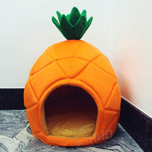 Load image into Gallery viewer, Creative Kennel Cat Nest Teddy dog Fruit Banana Strawberry Pineapple watermelon cotton bed warm pet Products Foldable Dog house