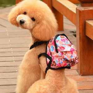 Canvas Pet Dog Backpack Harness Bag Travel Pet Carrier Portable Teddy Puppy Cat School Bag Pet Supplies