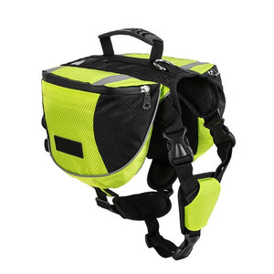 TAILUP Pet Outdoor Backpack Large Dog Reflective Adjustable Saddle Bag Harness Carrier For Traveling Hiking Camping Safety
