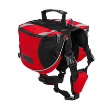 Load image into Gallery viewer, TAILUP Pet Outdoor Backpack Large Dog Reflective Adjustable Saddle Bag Harness Carrier For Traveling Hiking Camping Safety