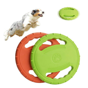 Flying Disc Interactive Rubber Dog Toys - puppyzone.co