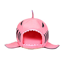 Load image into Gallery viewer, Pet Cat Bed Soft Pet Cushion Dog House Shark For Large Dogs Tent High Quality Cotton Small Dog Sleeping Bag Travel Products Gear