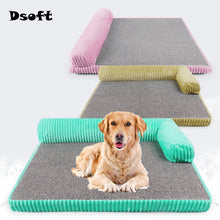 Load image into Gallery viewer, Dog Bed for Large Dogs Waterproof Detachable Lounger Sofa Summer Cool Mat Sleeping Kennel Bed Sofa Kennel Square Pillow Pet Mat