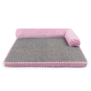 Dog Bed for Large Dogs Waterproof Detachable Lounger Sofa Summer Cool Mat Sleeping Kennel Bed Sofa Kennel Square Pillow Pet Mat