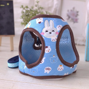 CoolPaw Pet Dog Harness Collar Cute Cartoon Design Lead Breath Soft for Small Puppy Dogs Cats